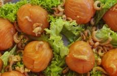 Bonbon van zalm en hollandse garnalen
